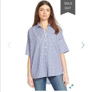 Nwot Womens Madewell Gingham Courier Shirt sz S B0